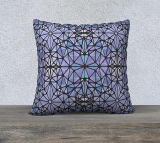 """Purple and Blue Kaleidoscope 22"""" x 22"""" Decorative Pillow Case preview"""