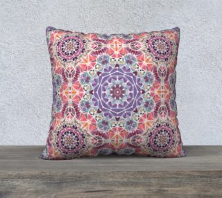 """Purple and Pink Kaleidoscope 22"""" X 22"""" Decorative Pillow Case preview"""