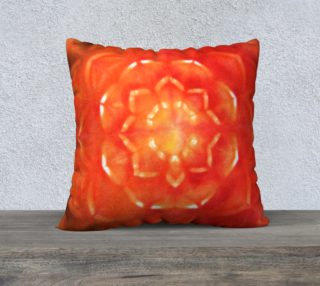 Orange Lotus Pillow Cover preview