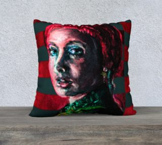 Girl with the Devin Earring  Pillow Case preview