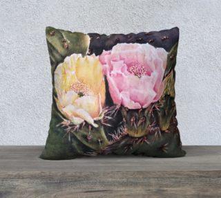Desert Cactus Flowers Pillow Case preview