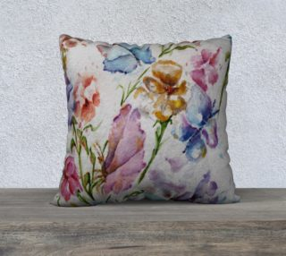 Whimsical Floral Pillow Case preview