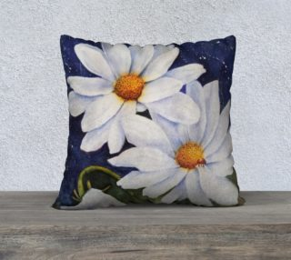 White Daisies Lady Bug Pillow Case preview