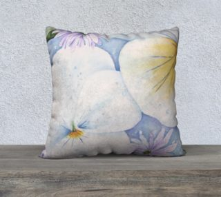 White Pansies Pillow Case preview