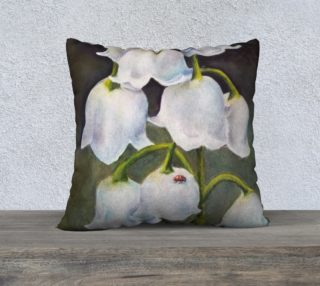 Lily of the Valley Lady Bug Pillow Case preview