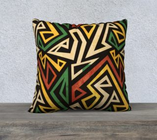 African geometric pillow (print by Gudinny) preview