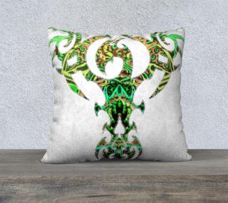 Green Phoenix Pillow preview