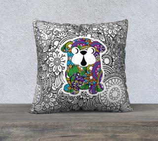 "Aperçu de Pug Doodle Design 22"" x 22"" Pillow Cover"