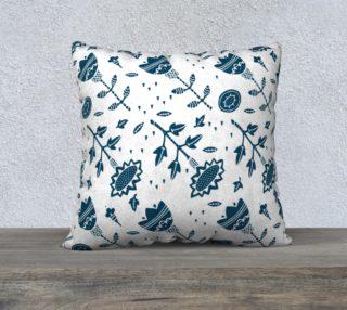 Aperçu de Blue fsunlowers in Naive Linocut style