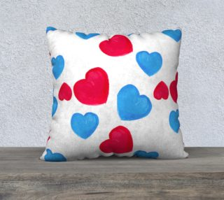 Red and blue hearts preview