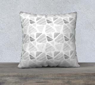 Gray abstract pattern in hand-drawing style, triangles preview