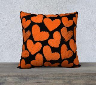 Cute orange hearts preview