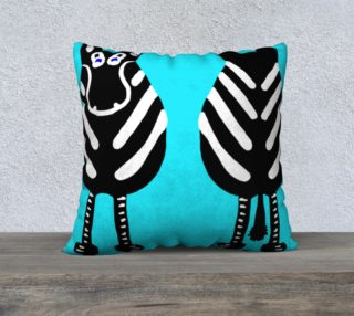 "Zebra Both Ends Pillow 22"" x 22"" preview"