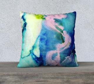 Aperçu de Rosa Caelum - pink blue teal marble swirl pattern