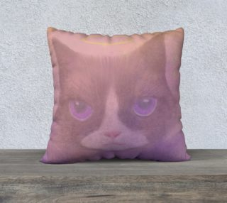 "Cosmic Cat Pillow 22"" x 22"" preview"
