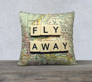 """fly away 18"""" white back preview"""