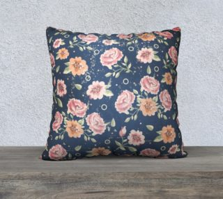 Vintage flowers pillow preview