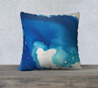 Breathe Into Blue Square Pillow preview