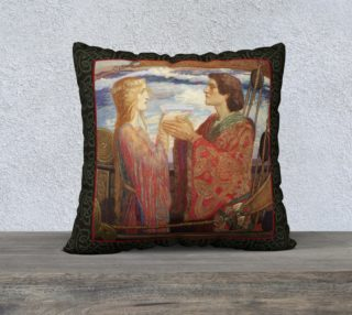 "Aperçu de Tristan and Isolde - 22"" x 22"" Pillow"