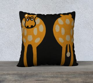 """Silly Cow Pillow Case 22"""" x 22"""" preview"""