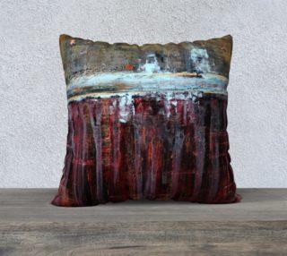 "Aperçu de Gold and Red Pillow - 22"""
