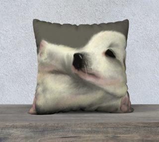"Adorable Puppy Pillow Case 22"" x 22"" preview"