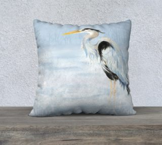 Watercolor Great Blue Heron Bird preview