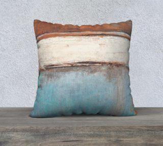 """Aperçu de Copper and Blue - 22"""" Pillow"""