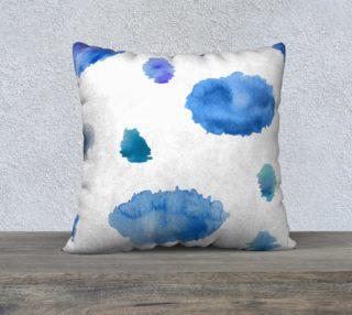 Watercolor blue rainy clouds. preview