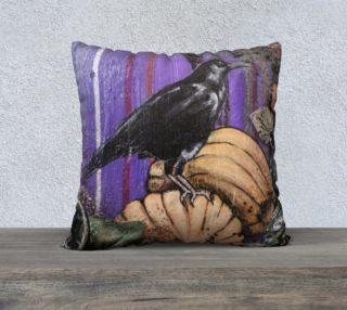 Aperçu de Pumpkin Patch Crow 22 X 22 Pillow Case