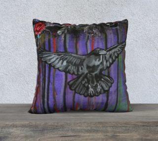 Aperçu de Crow 22 X 22 Pillow Case