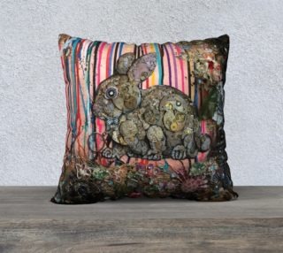 Aperçu de Clockwork Bunny 22 X 22 Pillow Case