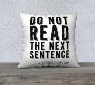 Do Not Read Typography preview