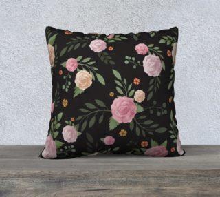 Black Floral Pillow preview