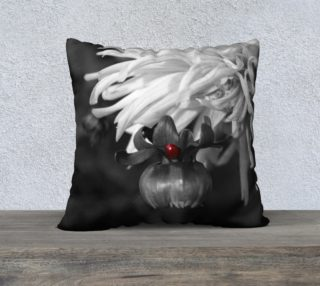 Ladybug on a Dahlia Bud Pillow Case preview