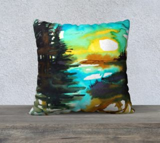 Sun on the River  cushion cover preview