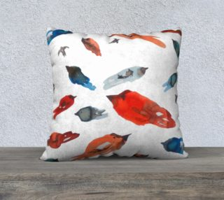Fish-Birds  cushion cover preview