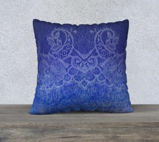 Lace Watercolor Ombre Blue Pillow preview