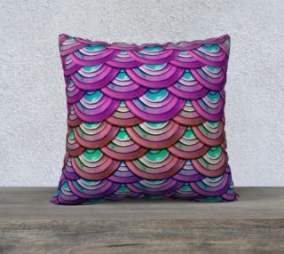 Purple Mermaid Dragon Scale Pillow Case  preview