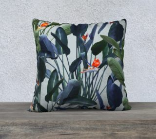 Bird of Paradise Pattern V2 Pillow 22x22 preview