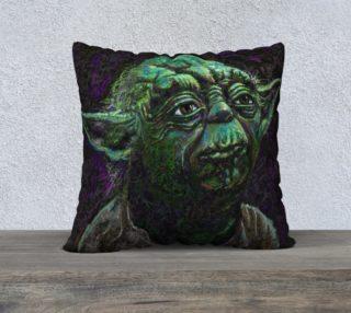 Yoda Square Throw Pillow preview