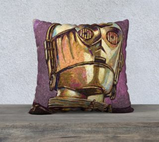 C3PO Square Throw Pillow preview