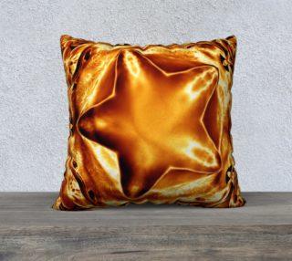 Aperçu de Elegant Shiny Copper Gold Star Pillow