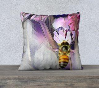 Aperçu de Bee on a Flower Cushion