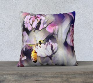 Aperçu de Bee Behind a Flower Cushion