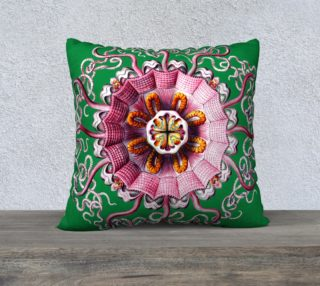 Pink Jellyfish Green Ernst Haeckel Pillow preview