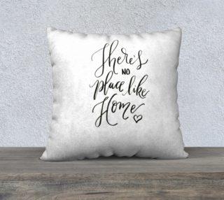 Aperçu de There's no Place Like Home 22x22 pillow cover