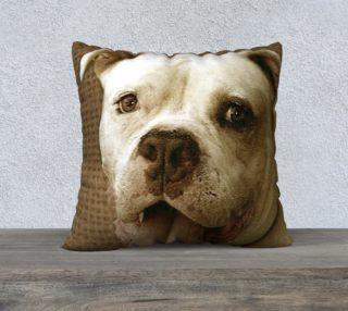 American Bulldog 22x22 pillow preview