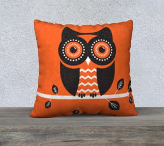 orange owl pillow preview