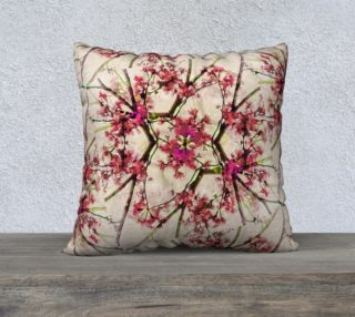 Red Deco Geometric Nature Collage Floral Motif Throw Pillow preview